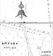The Russian Cemetery on a map in 1850